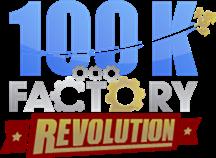 100K Revolution Logo PNsG For Black Back