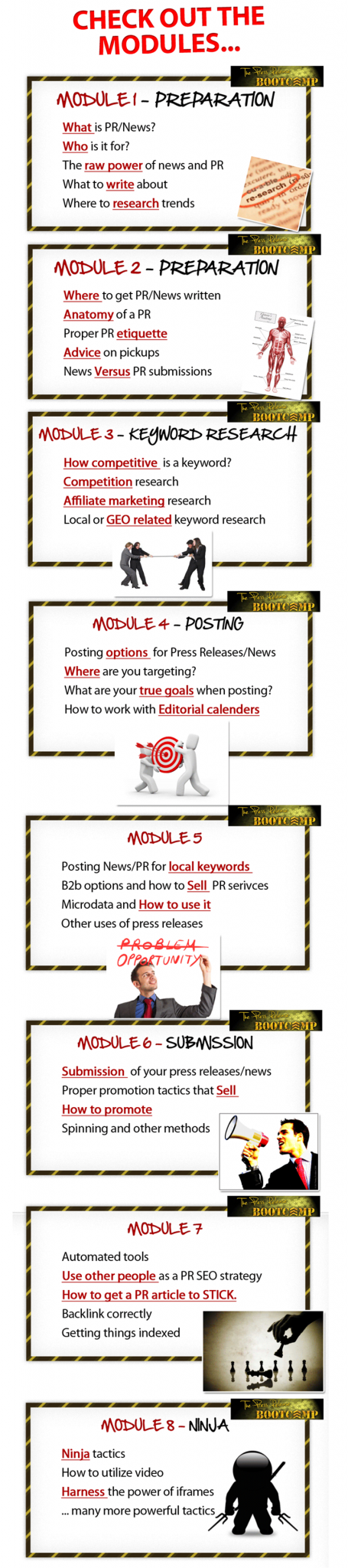 Press Release Bootcamp Modules