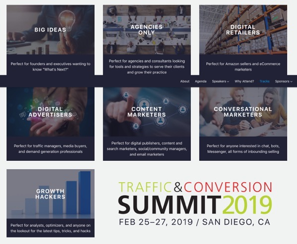 Screenshot 2019 04 29 Traffic Conversion Summit Tracks