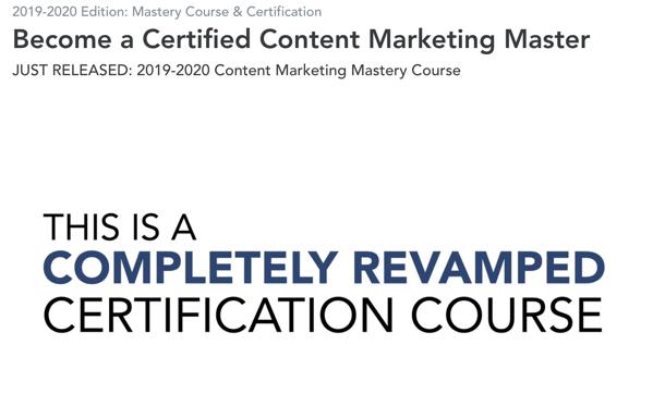 Screenshot 2019 08 05 Become a Certified Content Marketing Master DigitalMarketer