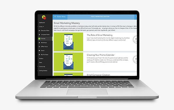 Email marketing laptop